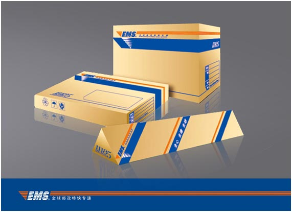 ems全球邮政特快专递标志设计及vi设计